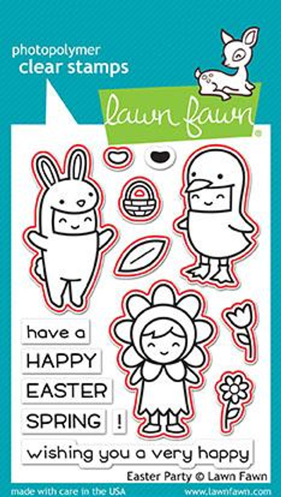 Lawn Fawn - Coordinating Stamp (LF1589) & Die Set (LF1590) - Easter Party