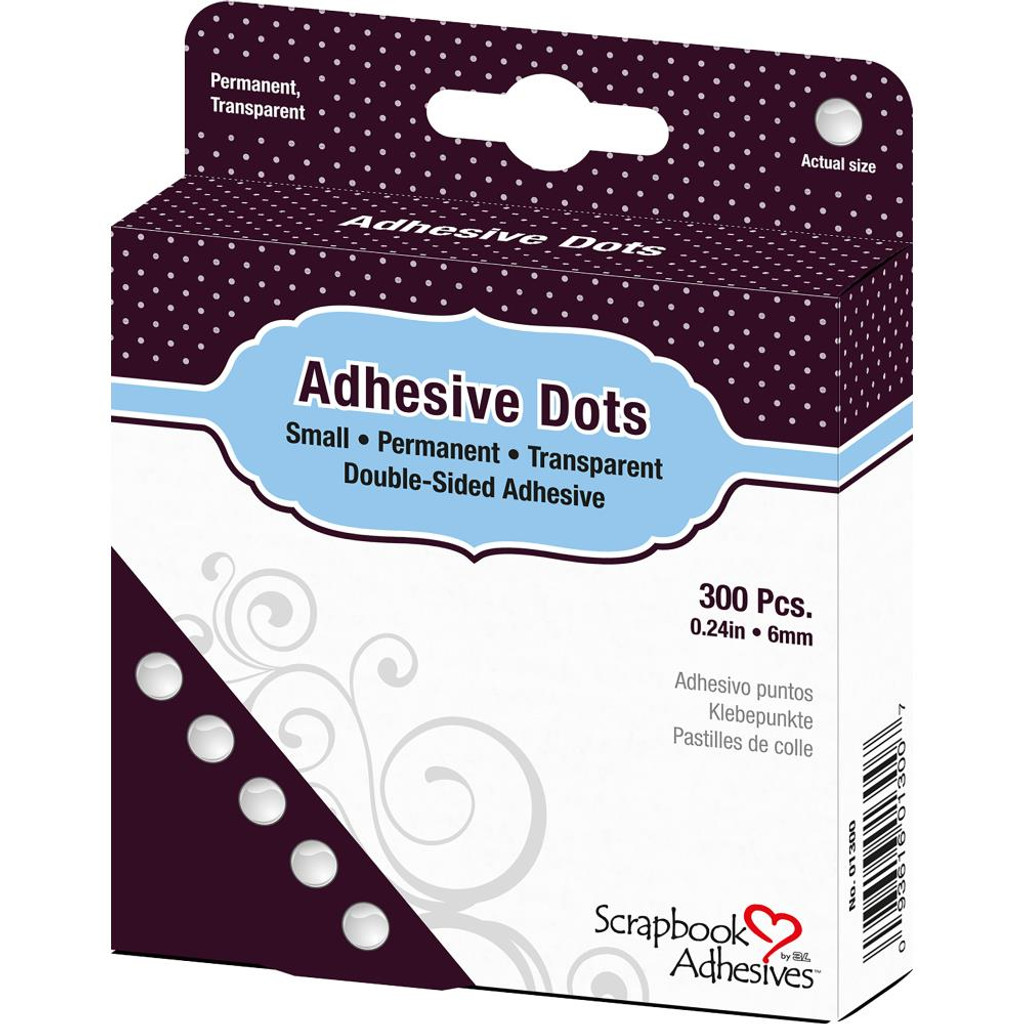 "Scrapbook Adhesives - Dodz Adhesive Dot Roll - Small .25"" 300/Pkg (01300)"