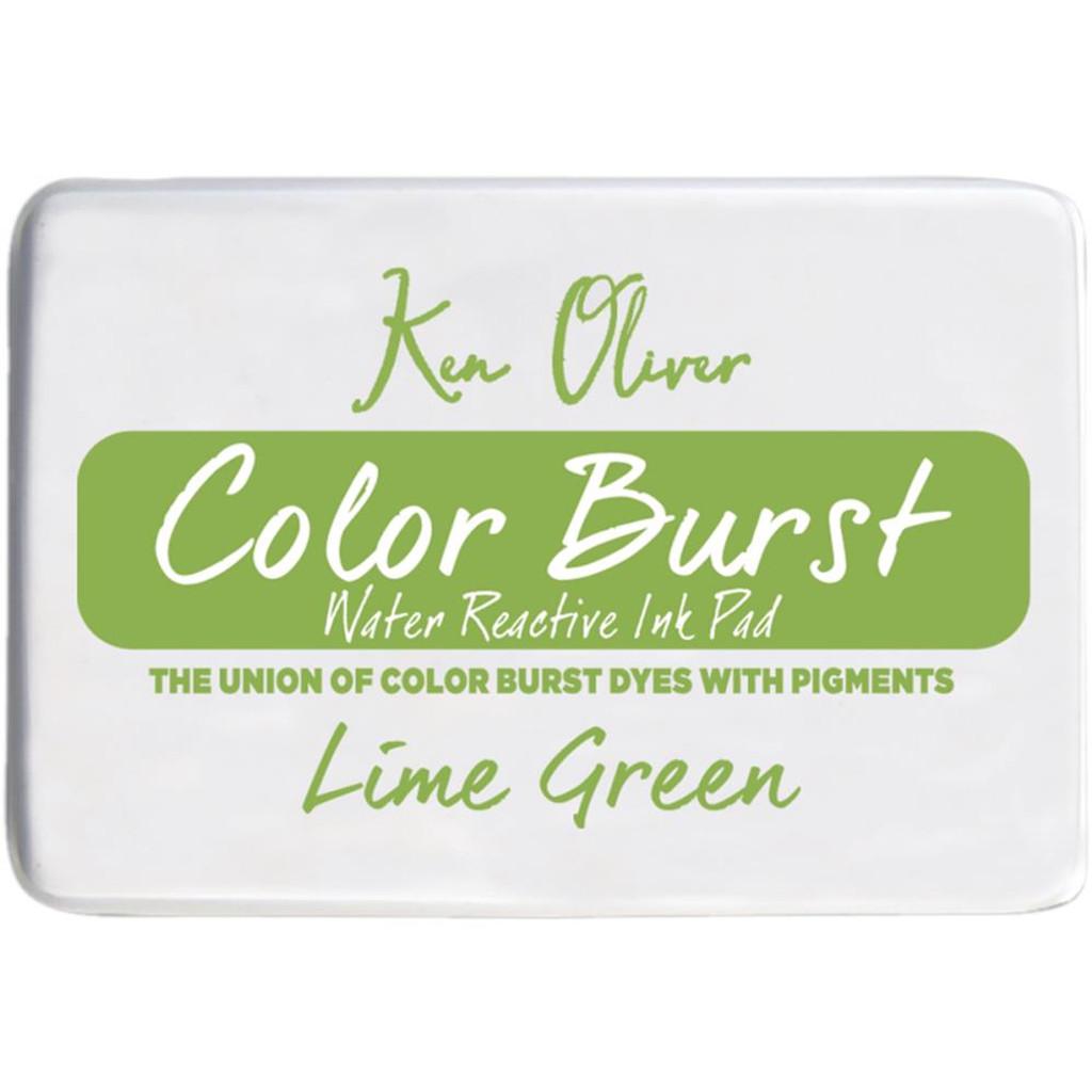 Color Burst Stamp Pad - Lime Green - Ken Oliver
