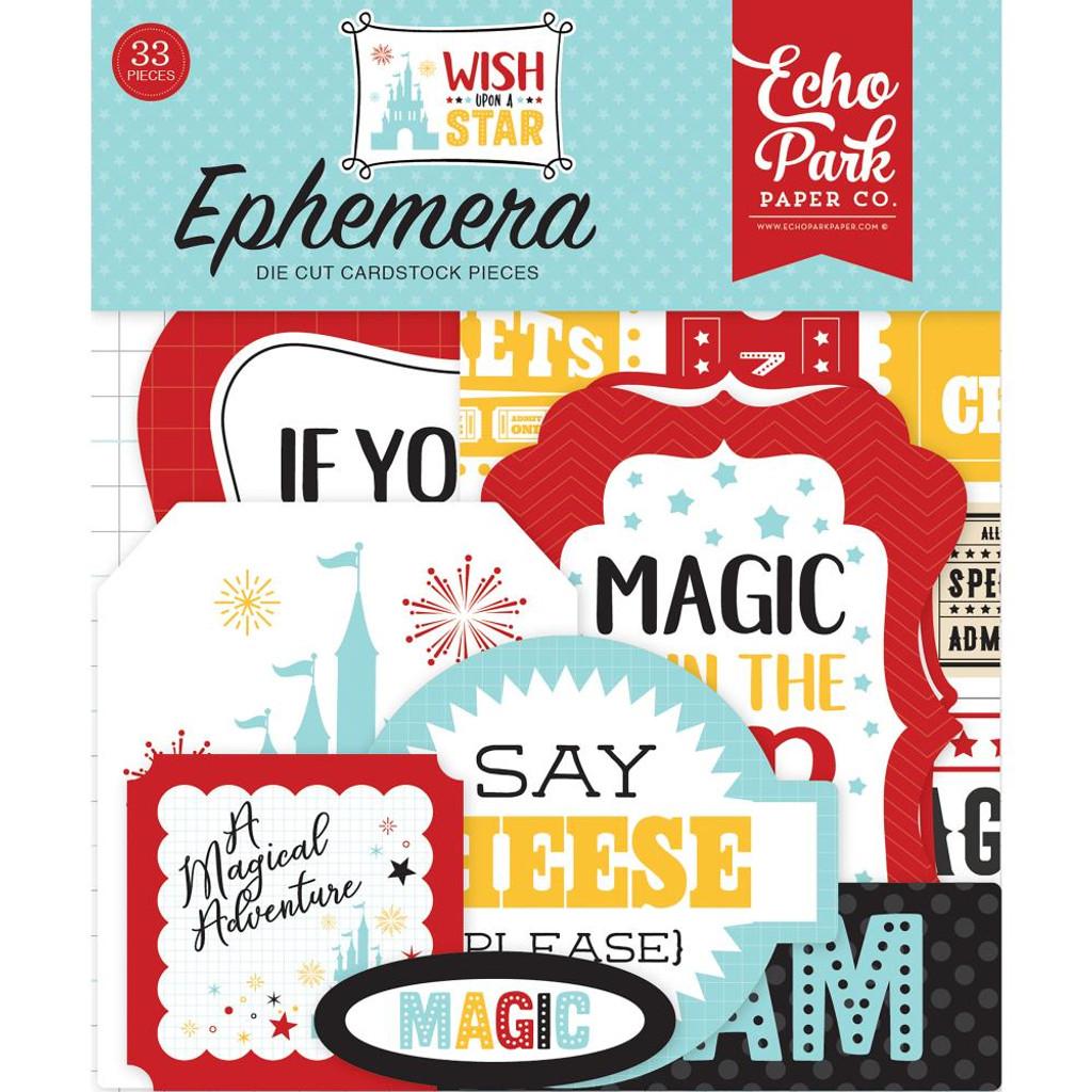 Echo Park - Wish Upon A Star - Ephemera Cardstock Die-Cuts (TNW1008)