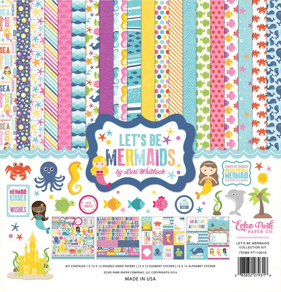 "Echo Park - Collection Kit 12""X12"" - Let's Be Mermaids (LBM110016)"