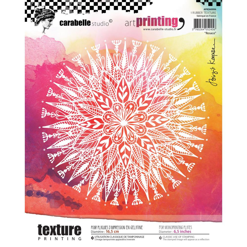 Rosace - Art Printing Round Rubber Texture Plate - Carabelle Studio