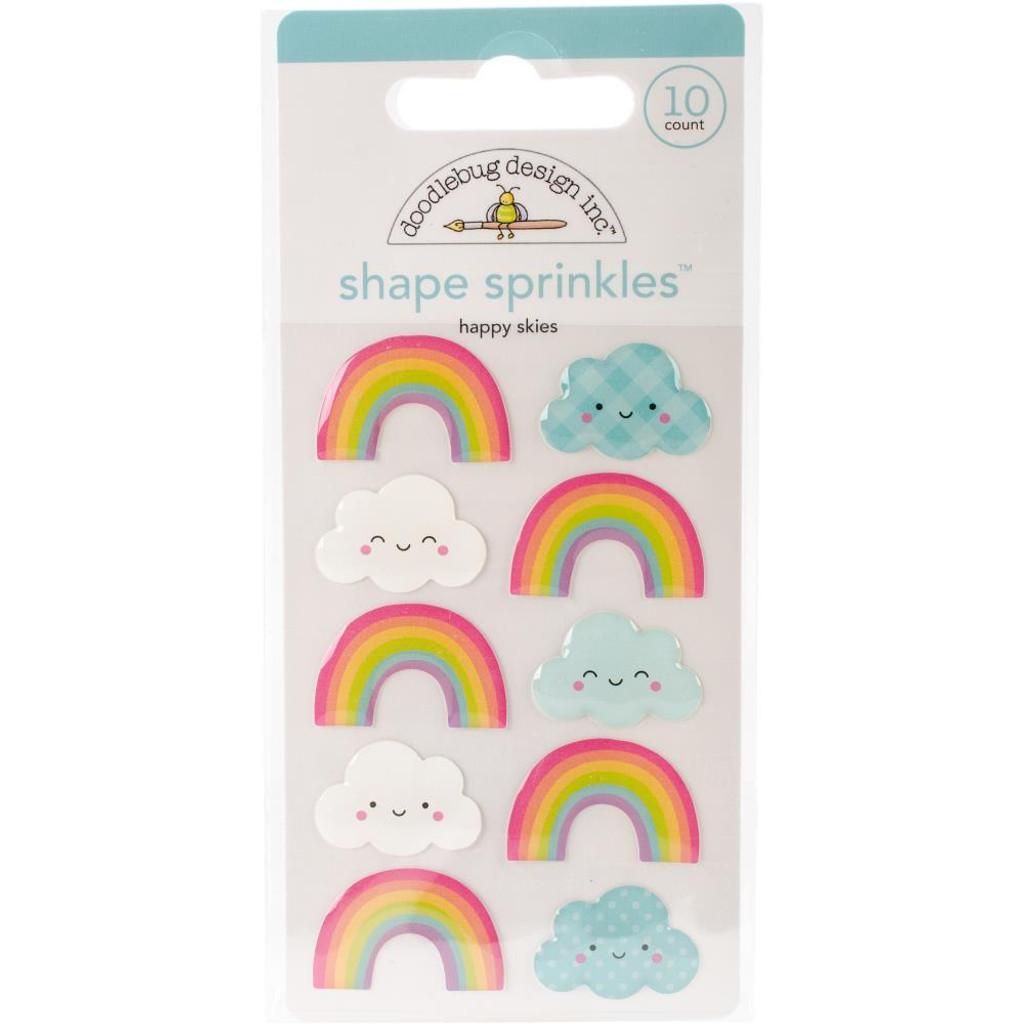 Doodlebug - Fairy Tales Happy Skies - Adhesive Glossy Enamel Shape Sprinkles (FAIR5549)