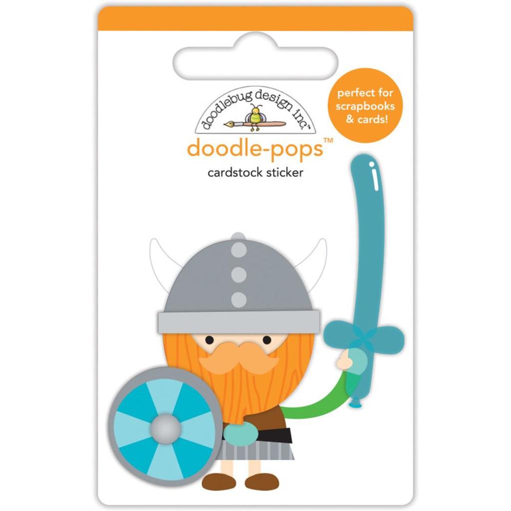 Doodlebug - Doodle-Pops 3D Stickers - Dragon Tails Wee Warrior (DRA5582)