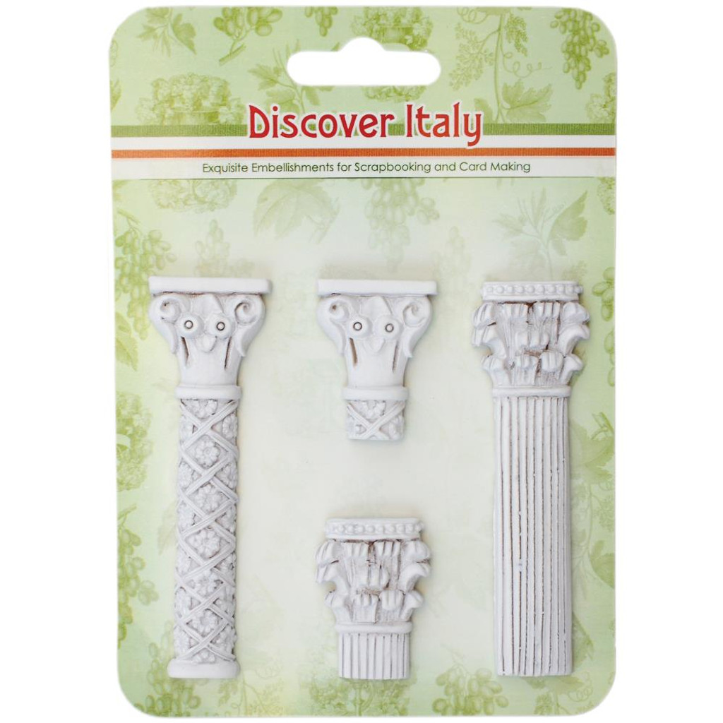 Discover Italy Columns - ScrapBerry's Exquisite White Polymer Embellishments (26002104)