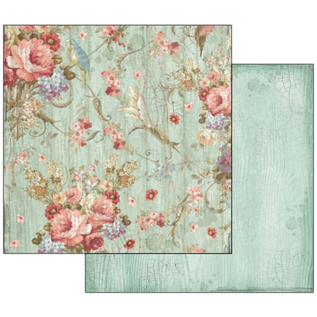Stamperia  - Double sided 12x12 Paper - Liberty Flowers SBB500