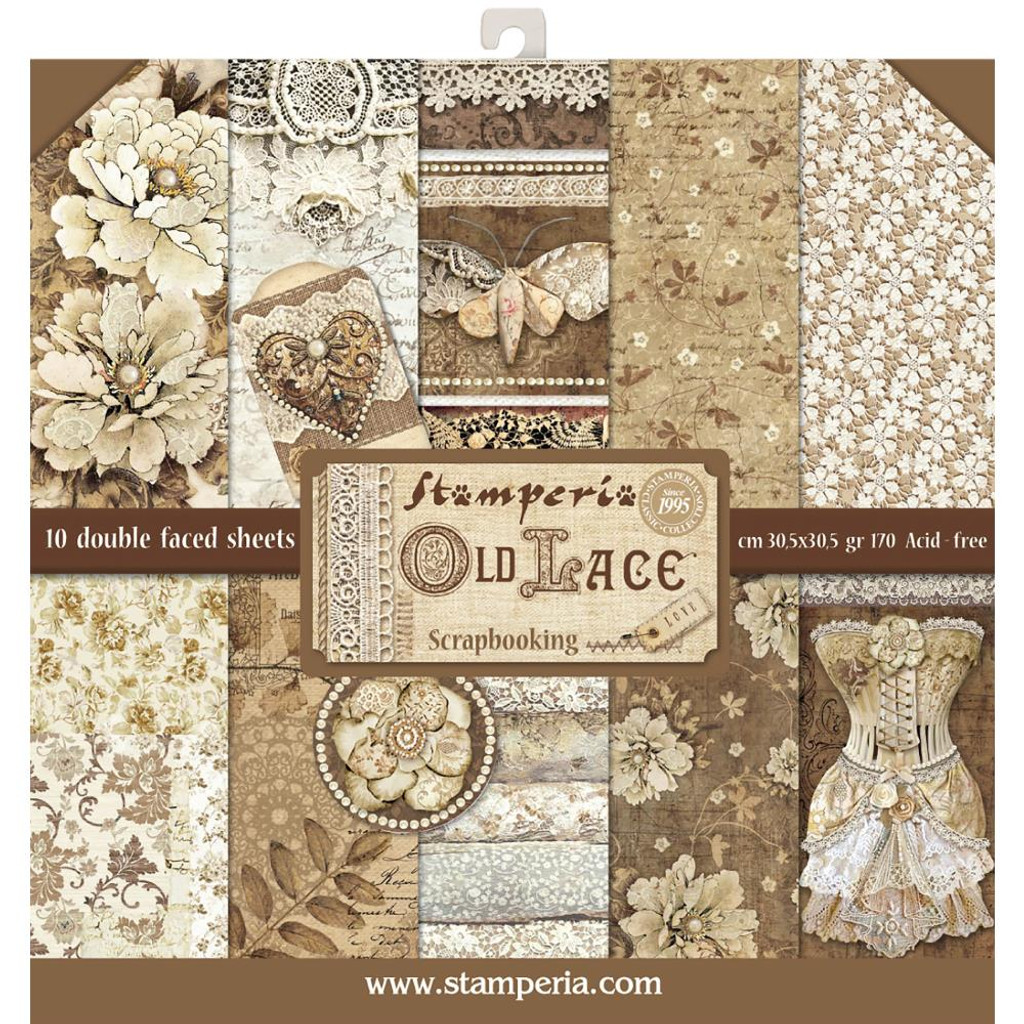 Stamperia - Double sided 12x12 Paper Pack- Old Lace SBBL32