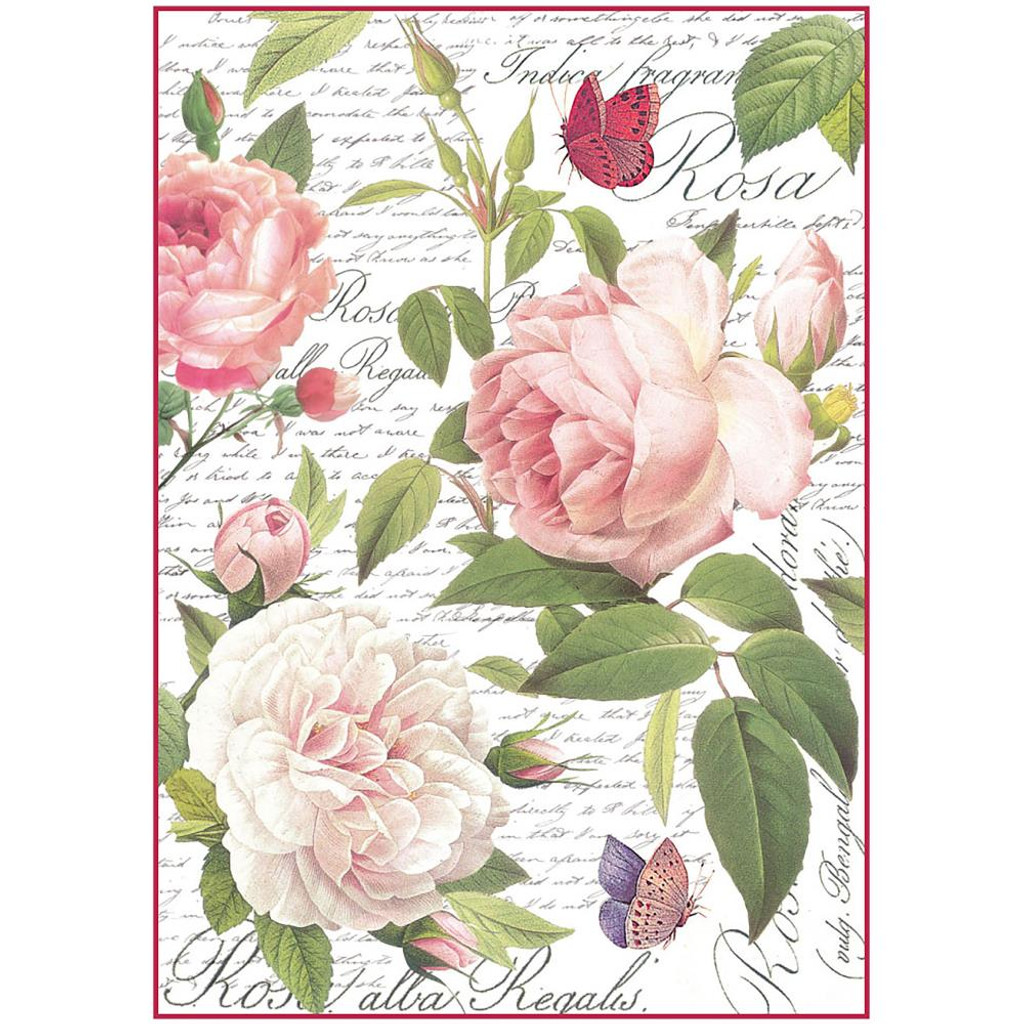 Stamperia - Vintage Rose - Decoupage Rice Paper 8.25 x 11.5