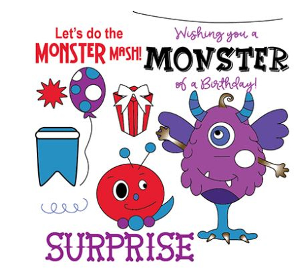 Little Darling Rubber Stamps - Monster Mash - Stamp & Die Set