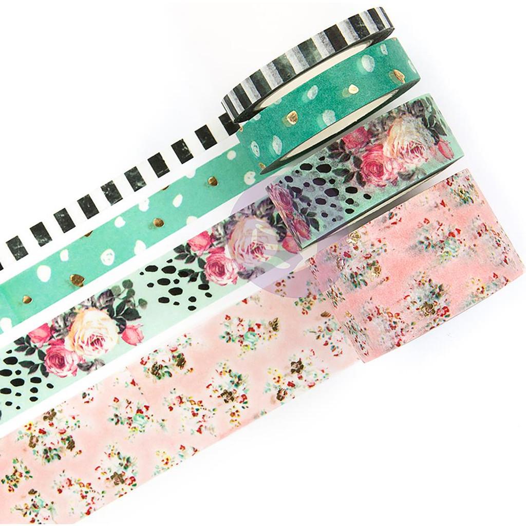 Prima - Decorative Washi Tape 4/Pkg - Havana (597733)