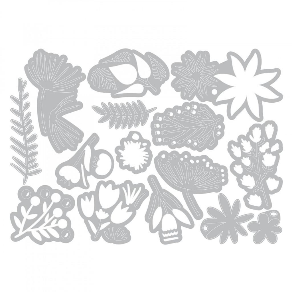 Tim Holtz - Sizzix - Funky Floral #3 - Thinlits Dies (662702)
