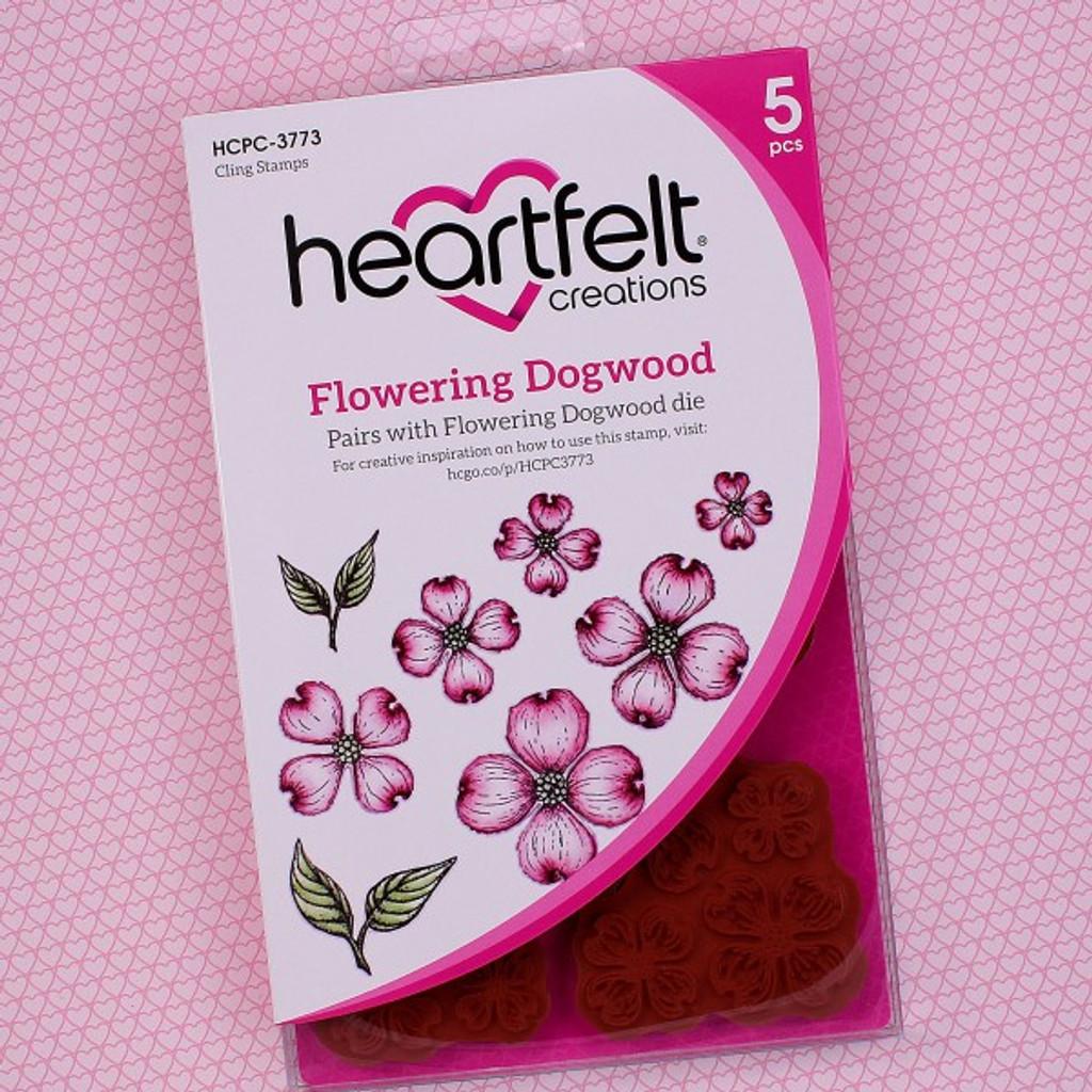 Heartfelt Creations Cling Rubber Stamp Set - Flowering Dogwood (HCPC3773)