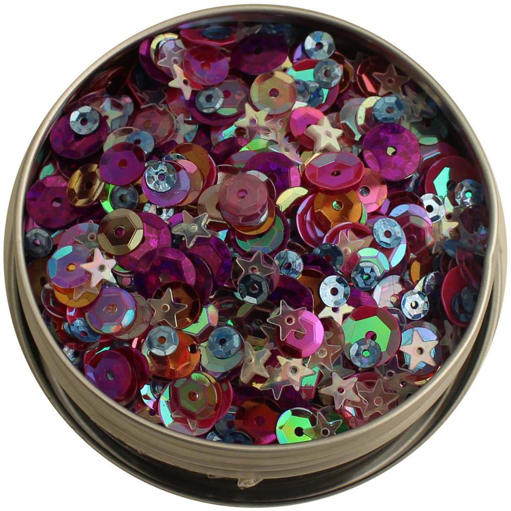 28 Lilac Lane Tin W/Sequins 40g - Mixed Berry LL313