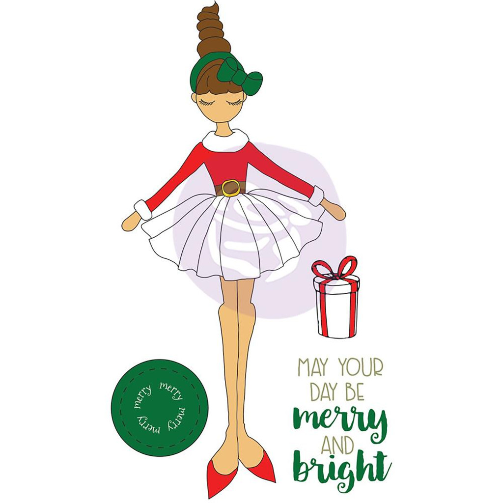 Prima - Julie Nutting - Christmas Stamps - Merry (912376)