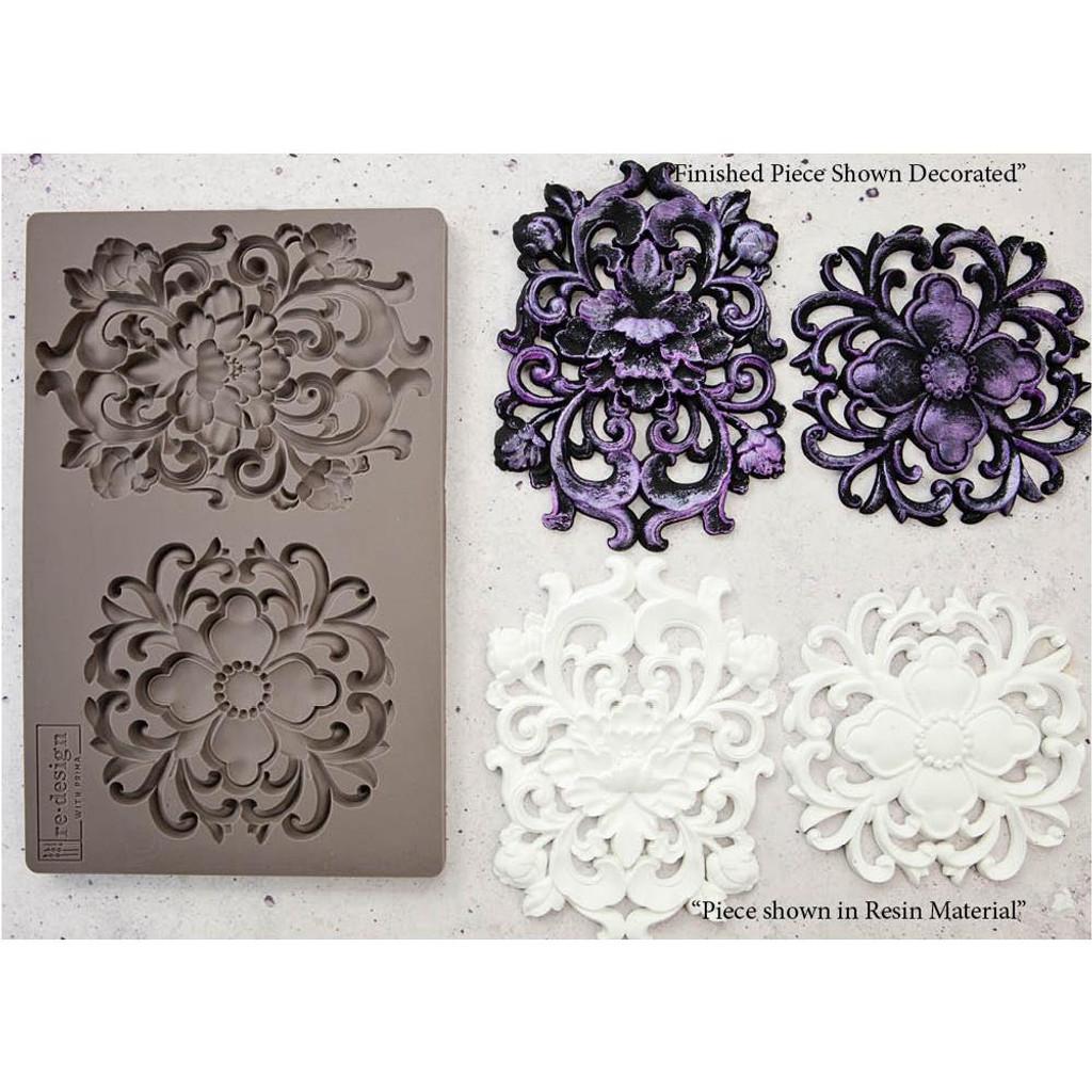 Prima Re-Design Iron Orchid Art Decor Moulds - Kingsbury Medallion