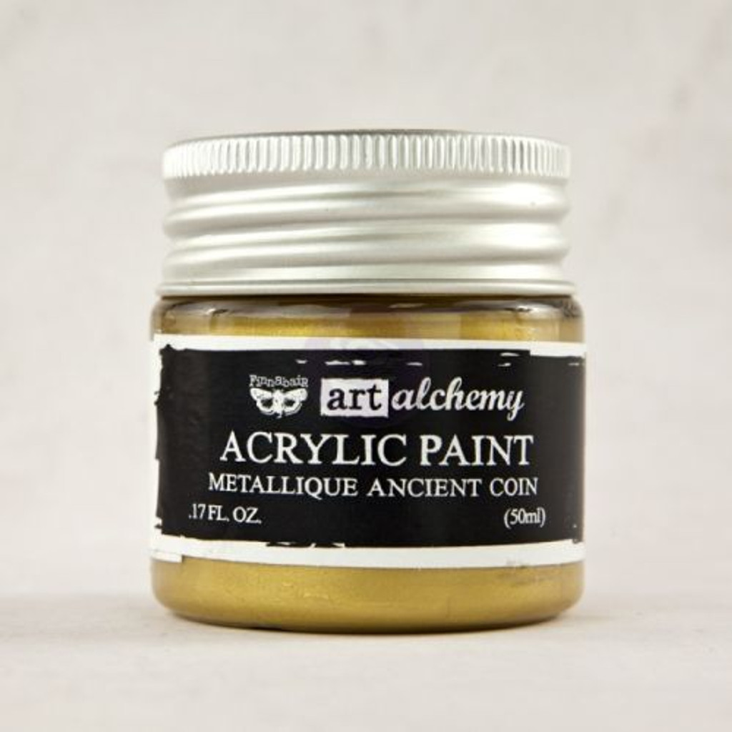 Prima Finnabair Art Alchemy - Acrylic Paint - Metallique Ancient Coin (963057)