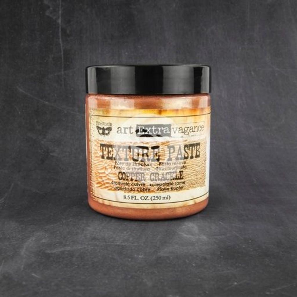 Finnabair Art Extravagance Texture Paste Copper Crackle 8.5 oz