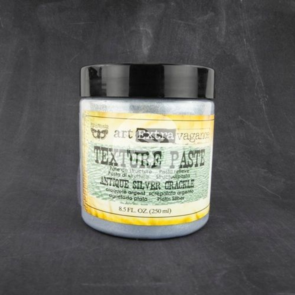 Finnabair Art Extravagance Texture Paste Antique Silver Crackle 8.5 oz