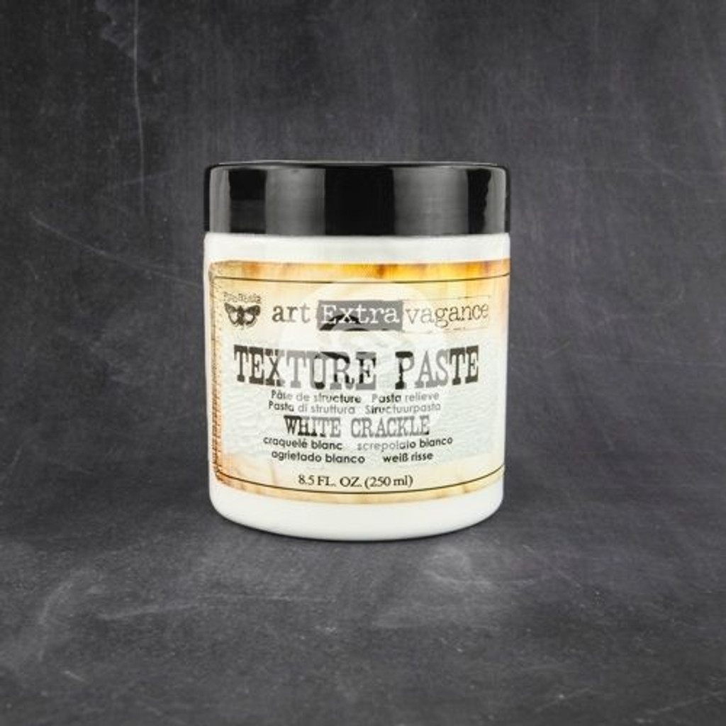 Finnabair Prima Texture Paste White Crackle 8.5 oz