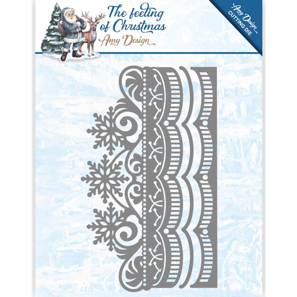 Find It Trading - Amy Design - The Feeling of Christmas - Ice Crystal Border Die (ADD10111)