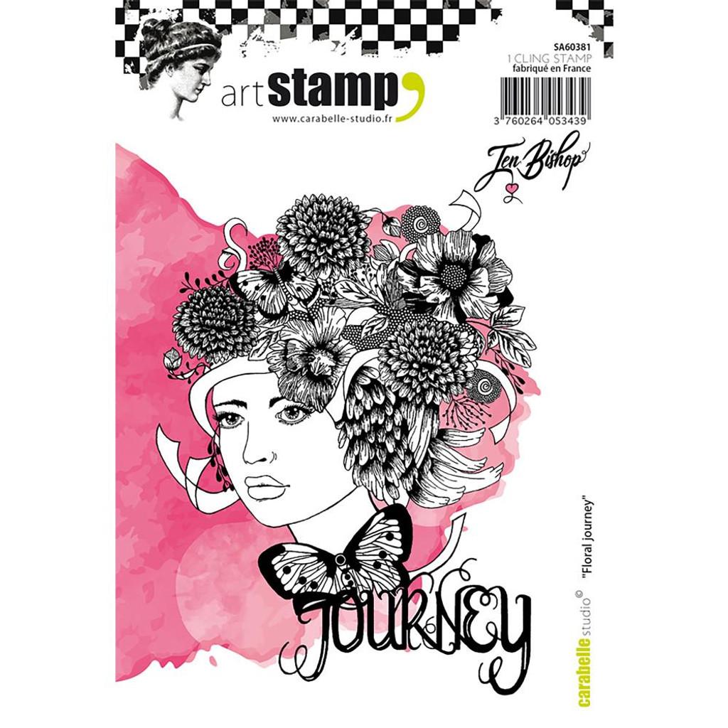 Carabelle Studio - Cling Stamp A6 By Jen Bishop - Floral Journey