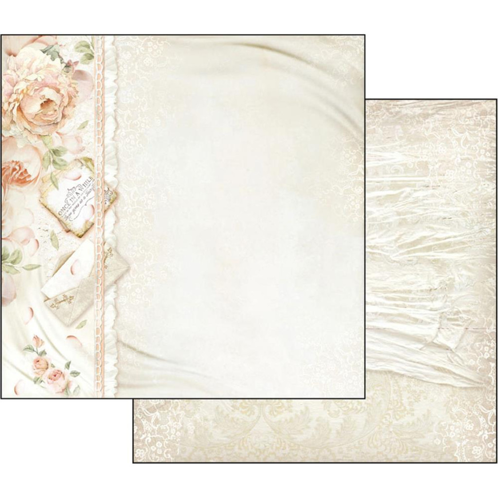 Stamperia - Ceremony - Double sided 12x12 Paper - Peony & Letters (SBB553)
