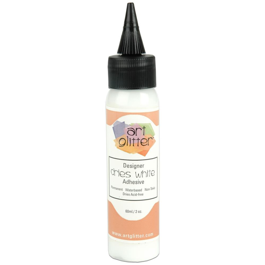 Art Institute Glitter Designer Dries White Adhesive 2oz (DDW 159951)