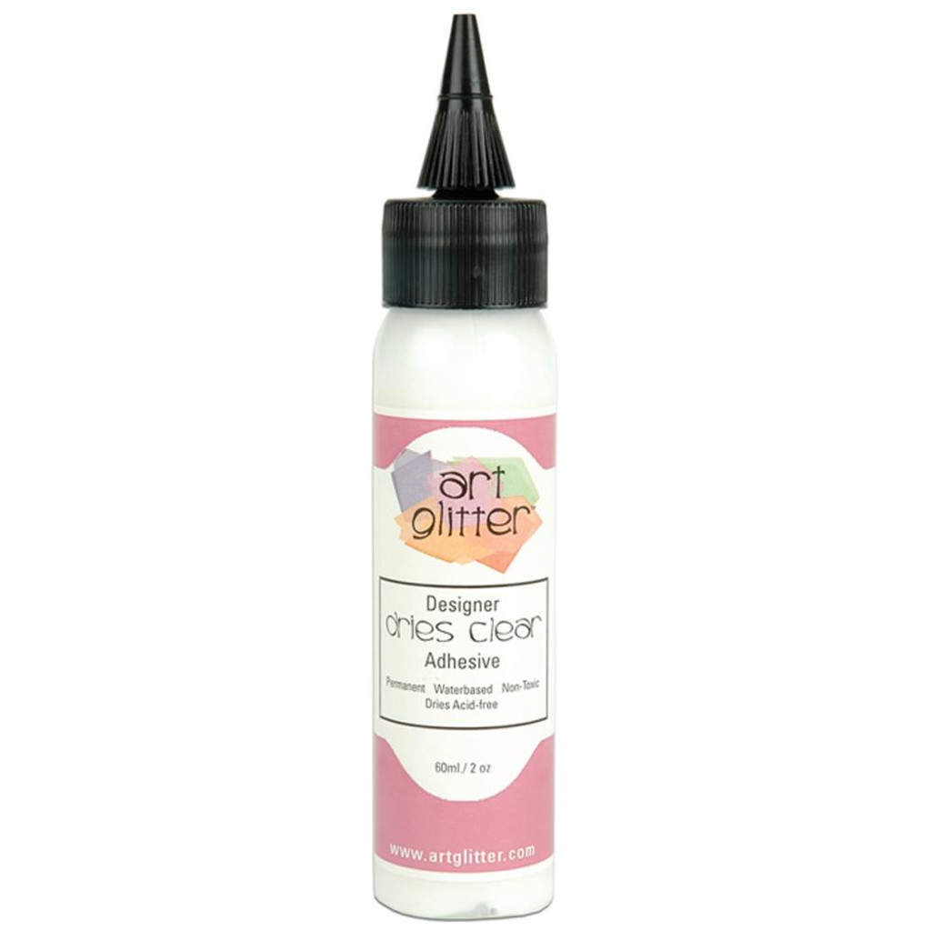 Art Institute Glitter Designer Dries Clear Adhesive 2 oz (DDC 159723)