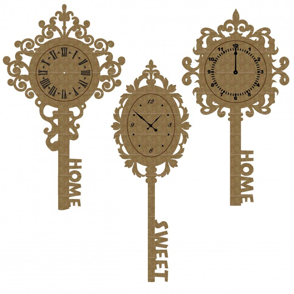 Creative Embellishments - Chipboard - Clock Keys