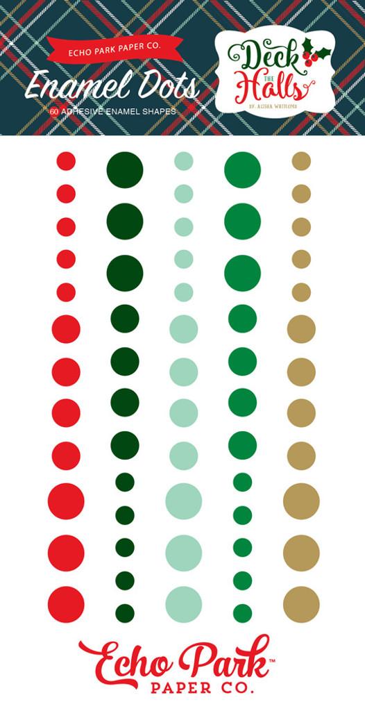 Echo Park - Adhesive Enamel Dots - 60/Pkg - Deck the Halls (DH116028)