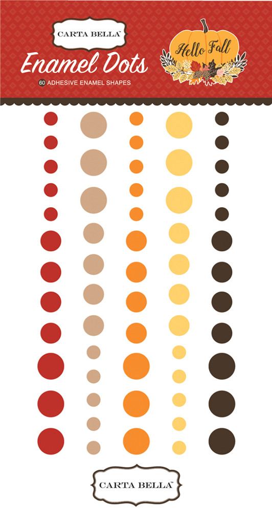 Carta Bella - Adhesive Enamel Dots - 60/Pkg  - Hello Fall