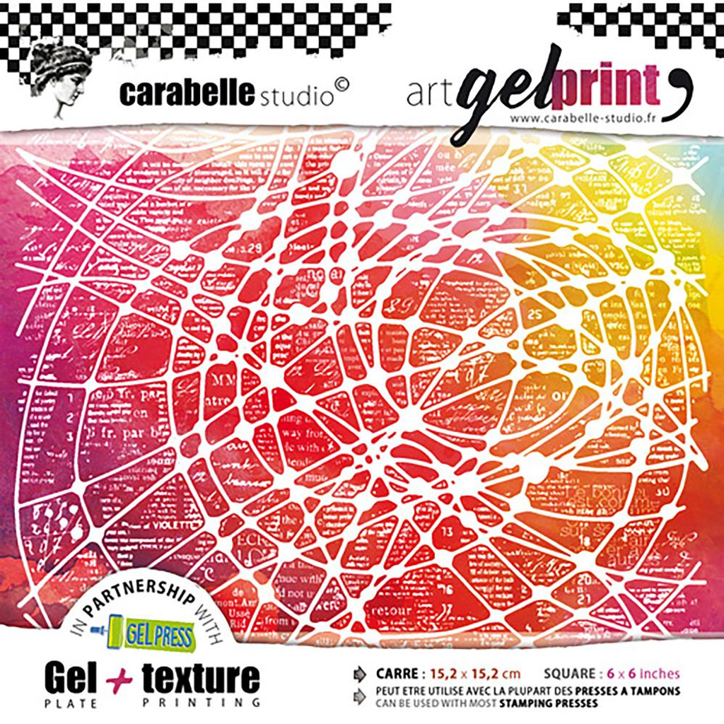 Carabelle Studio - Gel Plate & Rubber Texture Plate Kit - From Thread To Needle (APK60002)