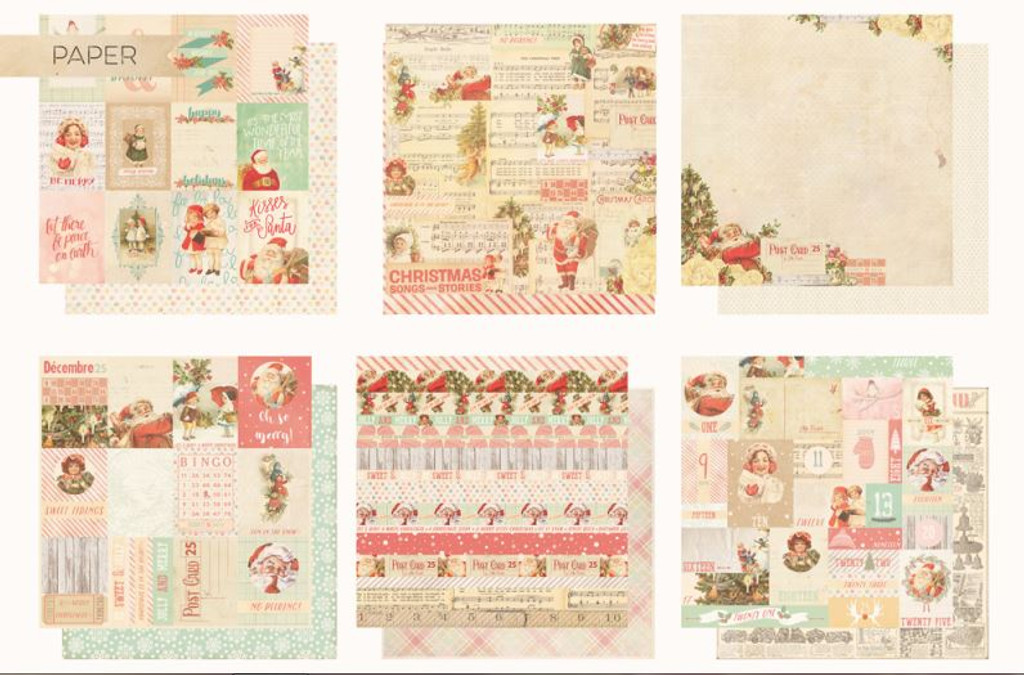 Prima Frank Garcia - Sweet Peppermint Collection - 12 papers (SWTPEP-6SHTS)