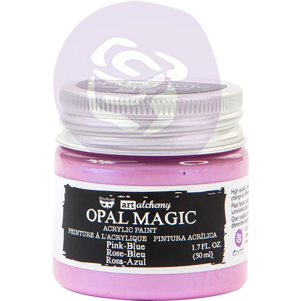 Prima Finnabair Art Alchemy Opal Magic Acrylic Paint - Pink Blue (AAOM 66065)