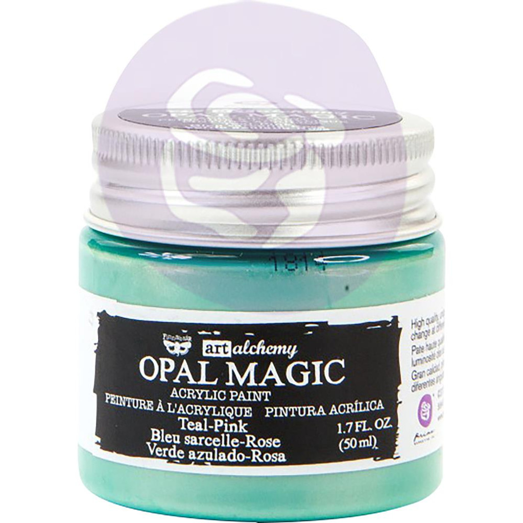 Prima Finnabair Art Alchemy Opal Magic Acrylic Paint - Teal Pink (AAOM 66096)
