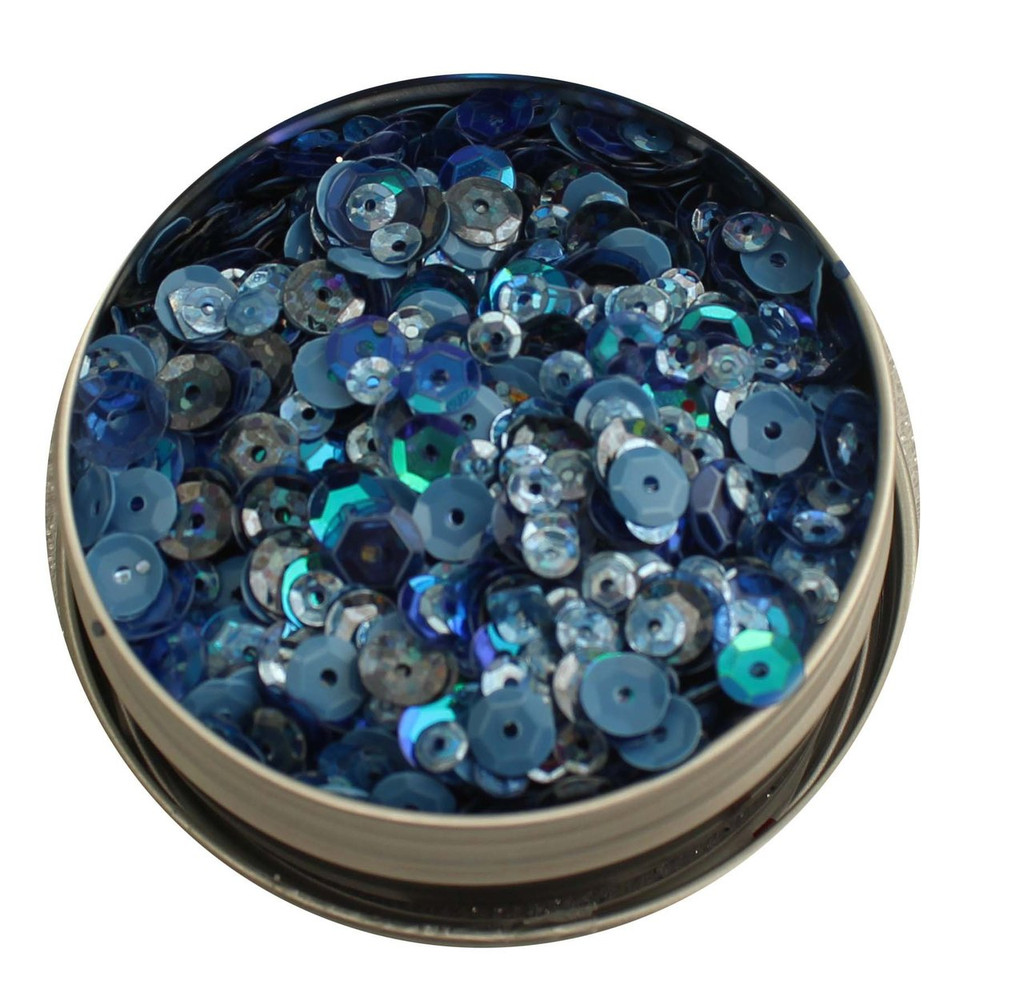 28 Lilac Lane Tin W/Sequins 40g - Denim Blues