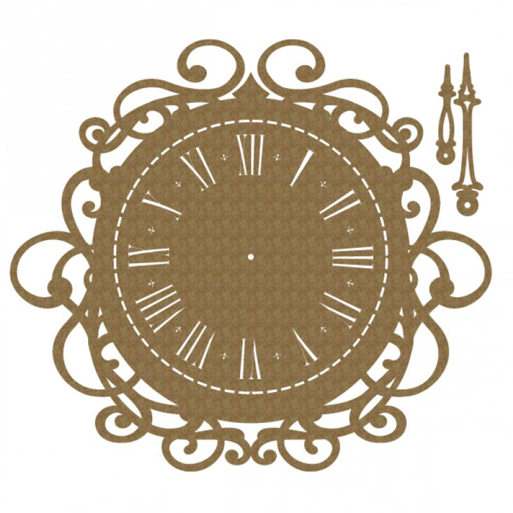 Creative Embellishments - Chipboard - Antique Clock