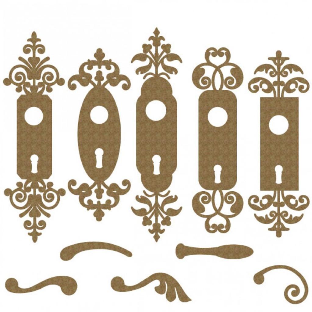Creative Embellishments - Chipboard - Door Knobs