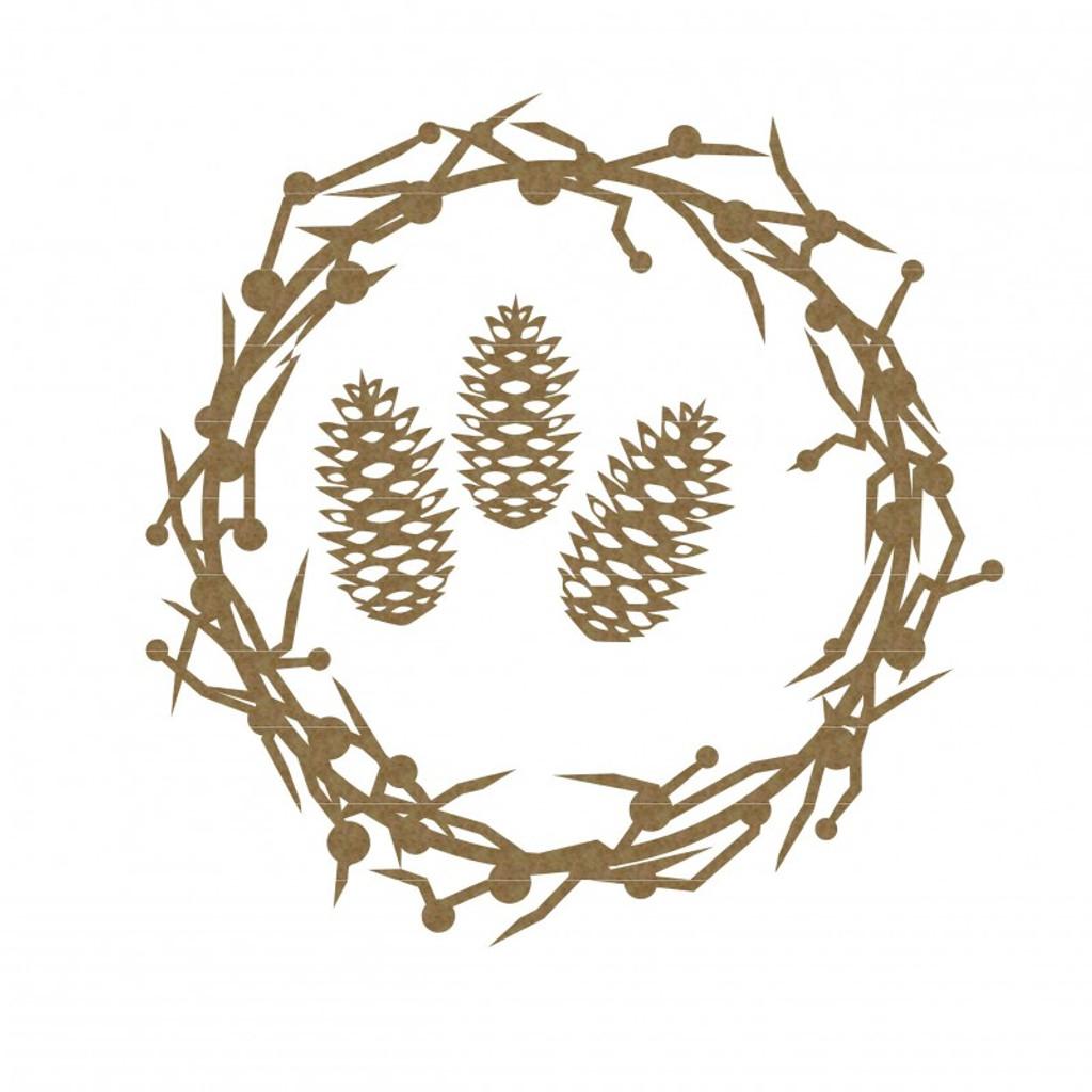 Creative Embellishments - Chipboard - Berry Wreath Frame