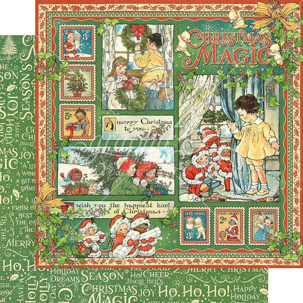 Graphic 45 - Christmas Magic - Double-Sided Paper - 12x12