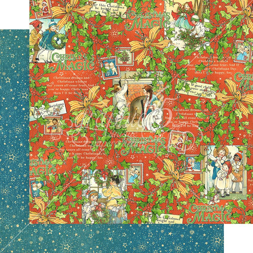 Graphic 45 - Christmas Magic - Merry Memories - Double-Sided Paper - 12x12
