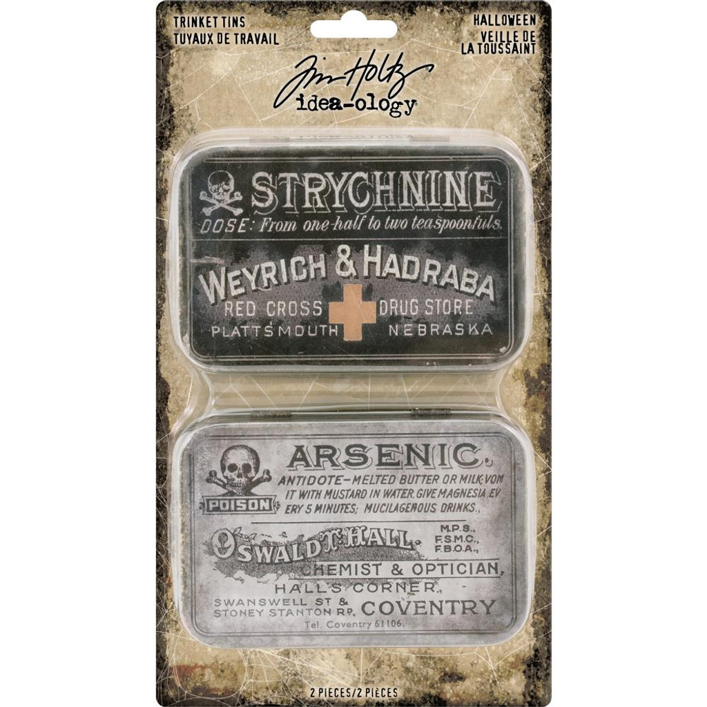 Tim Holtz - Idea-Ology Metal Trinket Tins 2/Pkg