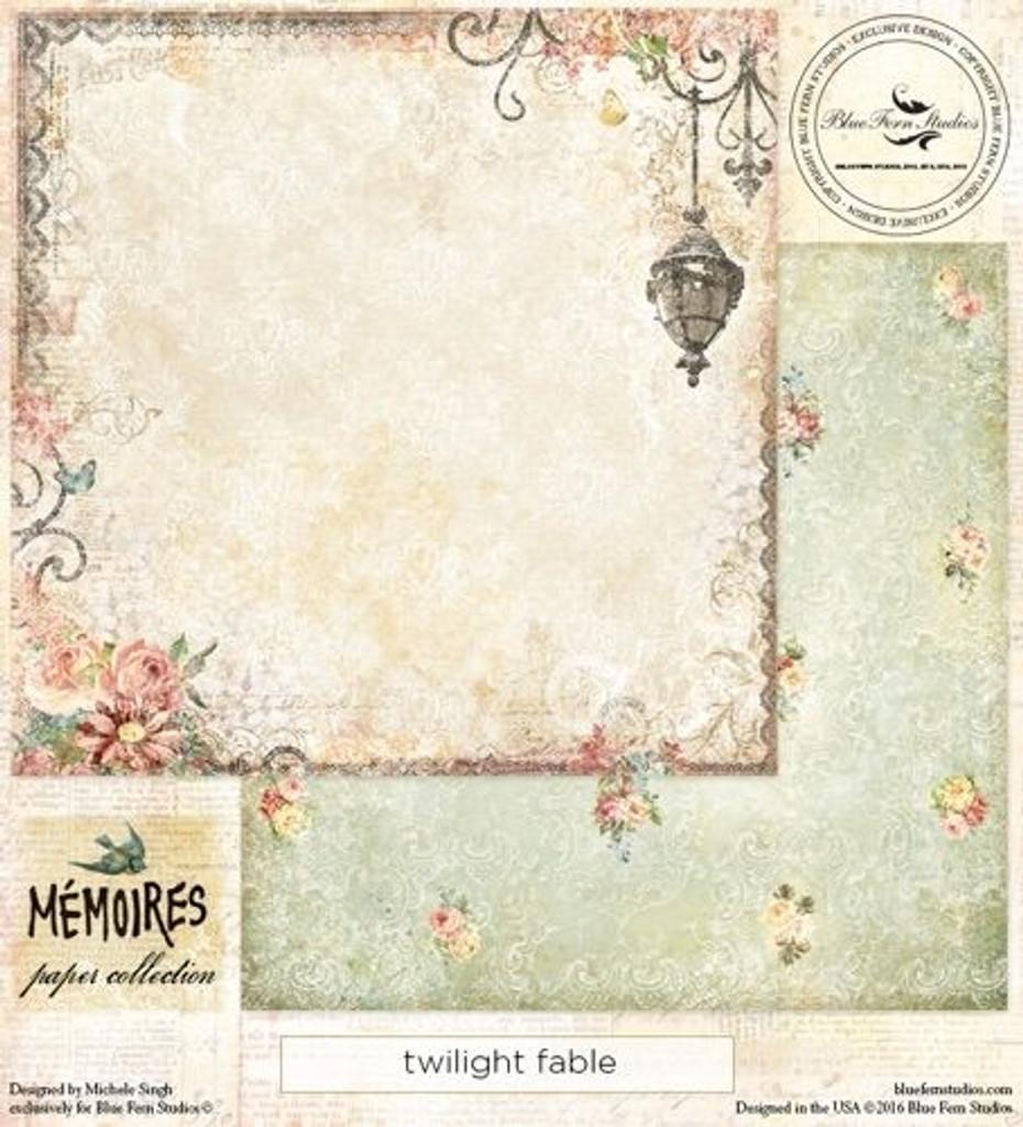 Blue Fern Studios - Memories 12x12 dbl sided paper -Twilight Fable