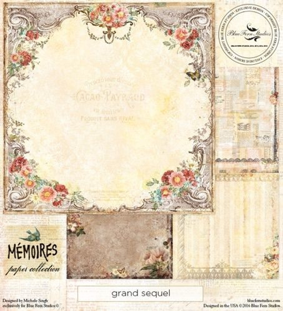 Blue Fern Studios - Memories 12x12 dbl sided paper - Grand Sequel