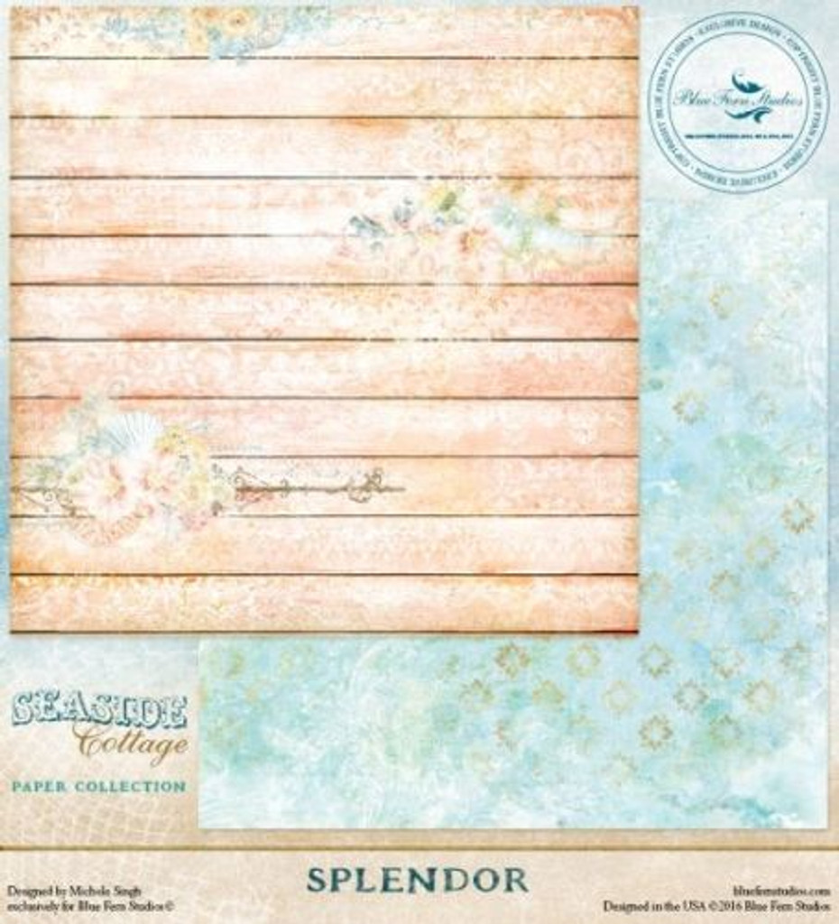 Blue Fern Studio - Seaside Cottage 12x12 dbl sided paper - Splendor