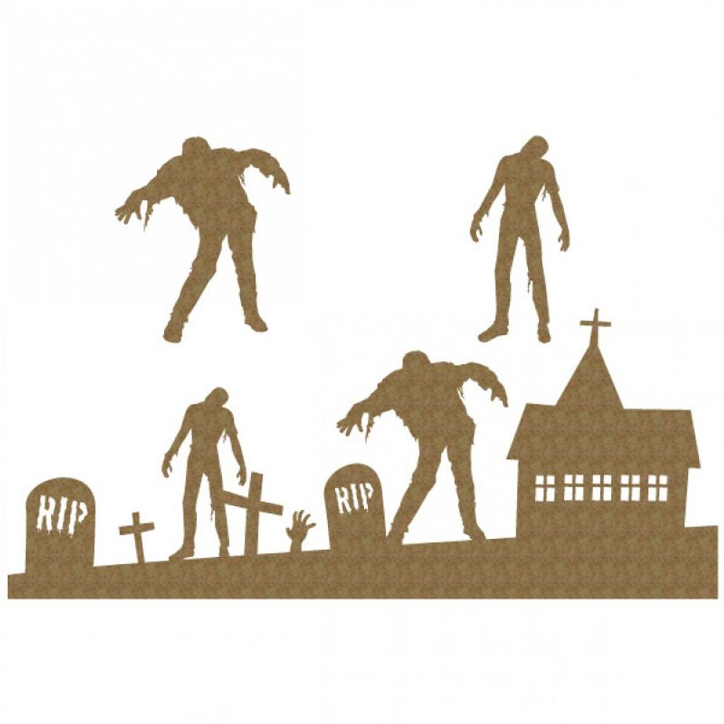 Creative Embellishments - Chipboard - Zombie Graveyard