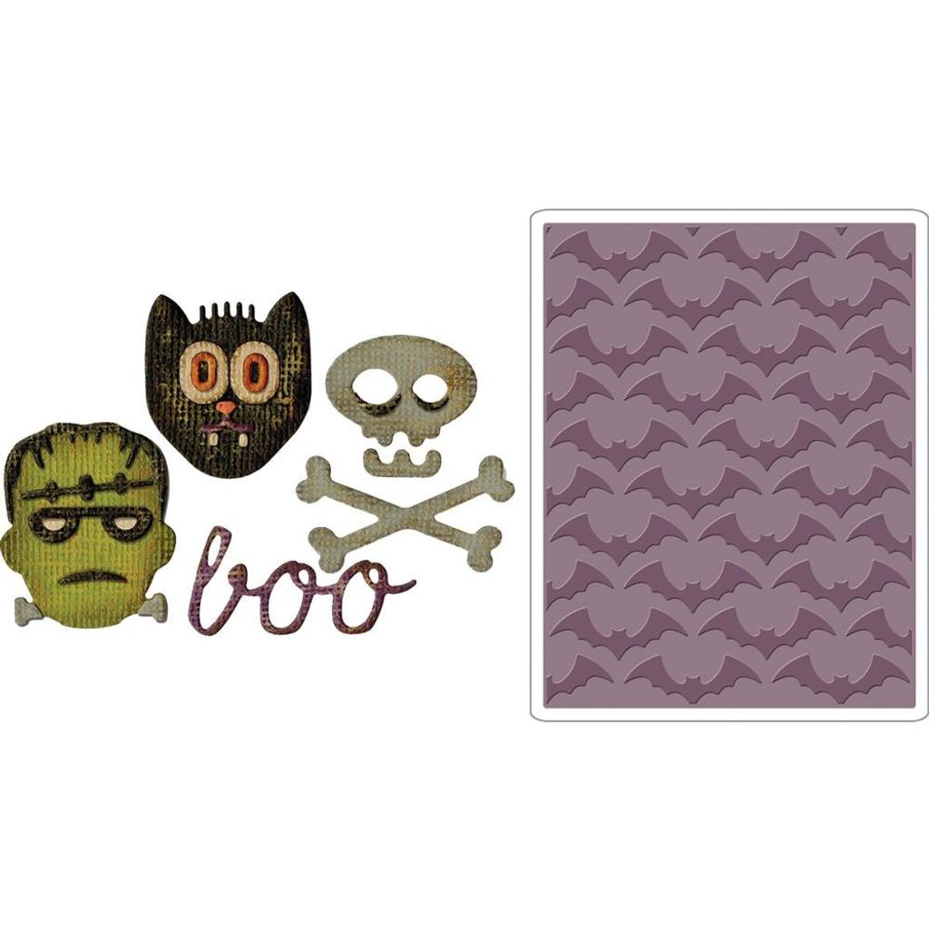 Sizzix - Tim Holtz - Side Kick Side Order - Halloween - Framelits Dies