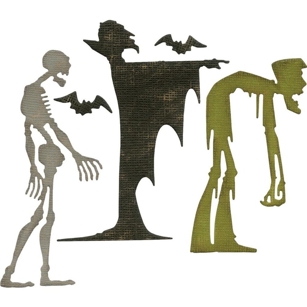 Sizzix - Tim Holtz - Framelits Dies - Ghoulish 663091