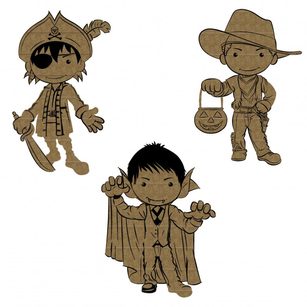 Creative Embellishments - Chipboard - Little Monsters 3