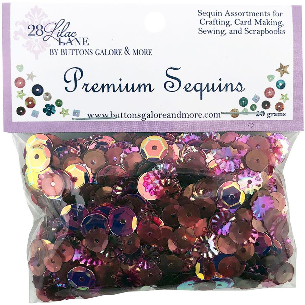 28 Lilac Lane Premium Sequins - Wine (PS-LL 738)
